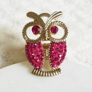 Ring | Brand New Pink Gold Colored Owl Ring